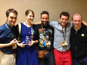 The LARPs team won Best Web Series at Gen Con!